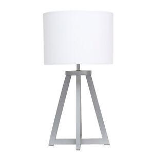 Simple Designs Interlocked Triangular Wood Table Lamp