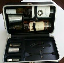 Portable Travel Mini Bar Carry Case w/2-Bottle Slots