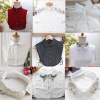 Women Detachable Peter Pan Lapel Shirt Fashion Fake False Collar Choker Necklace