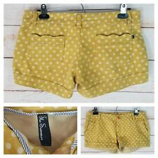 The Summer Sz 7 Mustard Yellow Polka Dot Low Rise Short Shorts Soft & Stretchy