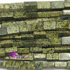 """Natural Genuine Green Serpentine Square Rectangle Shape Loose Beads 16"""""""