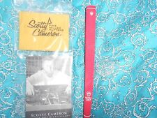 NEW SCOTTY CAMERON PUTTER CLEANING CLOTH+RARE NEW RED ROYAL CROWN PUTTER GRIP !!