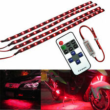 """12"""" 30CM Wireless Remote Control Motorcycle Red 15LED Light Strip Kit For BMW"""