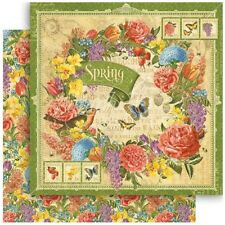 "Graphic 45 Seasons - SPRING - 12x12"" Scrapbooking Paper"