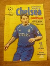 28/09/1999 Chelsea v Galatasaray [Champions League] . Footy Progs/Bobfrankandelv
