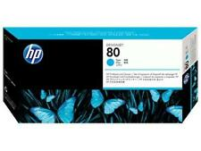 ORIGINAL & BOXED 2017 HP80 / C4821A CYAN PRINTHEAD + CLEANER - SWIFTLY POSTED