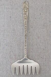 Vintage S Kirk & Son Sterling Silver Repousse Pattern Sardine Bacon Server Fork
