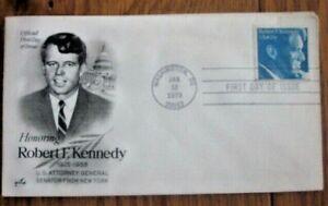 RFK ROBERT F KENNEDY  MEMORIAL 1979 ARTCRAFT CACHET FDC VF UNADDRESSED