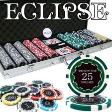 New 500 Eclipse 14g Clay Poker Chips Set with Aluminum Case - Pick Chips!