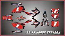 HONDA 05-13  CRF450 CRF450X  SEMI CUSTOM GRAPHICS KIT BLACK CHROME