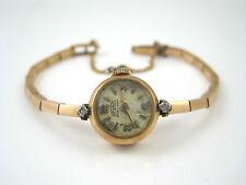 18k 750 Rose Gold Superatic Ancre 17 Rubis Diamonds Wristwatch Ladies Swiss SZ S