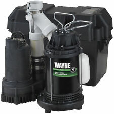 Wayne WSS30V - 1/2 HP Combination Primary and Backup Sump Pump System