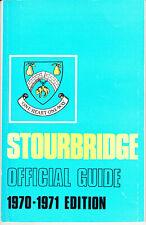 STOURBRIDGE 1970-1971 Stourbridge Official Guide