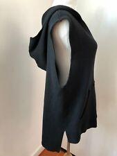 NWT $118 SOUL CYCLE skull sweater hoodie vest Sz M black knit jacket NEW