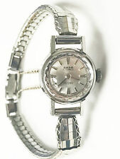 Rado 21 Jewels Peony Swiss Made Silver Dial Silver Tone Band and Case Watch