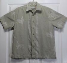 Quicksilver Edition Mens Beige Button Down - Floral Print - Shirt Size S/P