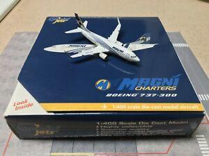Gemini Jets 1:400 Magnicharters B737-300 (Winglets) RARE!