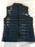 NWT Nautica Men's Plaid Packable Vest J53219 Deep Sapphire Size S Small $148