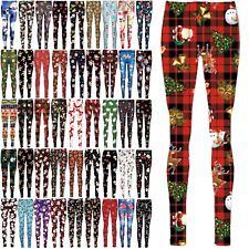 Womens Christmas Santa Reindeer Gingerbread Gifts Xmas Ladies Jegging Leggings