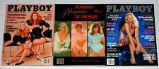 Kiss SHANNON TWEED 3pc Playboy Magazine Lot 1986 1991 1998 Gene Simmons