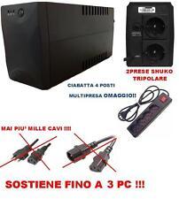 GRUPPO DI CONTINUITA' 1400VA PER PC UPS UFFICIO 1400 INGRESSI ESTERNO