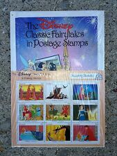 Disney Classic Stamps Fairytales in Postage Stamps Sleeping Beauty with Book NEW