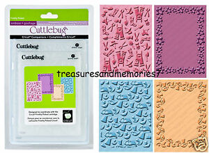 CUTTLEBUG Provo Craft FRESHLY PICKED 4 EMBOSSING FOLDERS A2