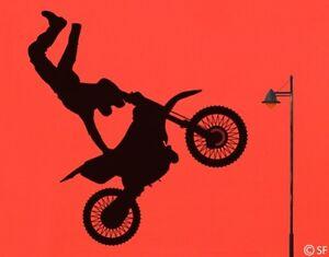 Wandtattoo Super Jump Motorrad Motocross Wandaufkleber Motorsport Sport uss471