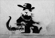 BANKSY Rap Rata Vinilo Pared, Auto, van Decal Sticker