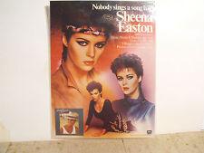 Vintage Laminated Photo of Sheena Easton from Billboard Magazine Ad