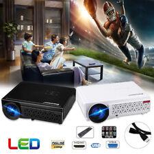 5000Lumen 1080P 4K HD LED Projector Home Theater Built in Speaker HDMI/VGA/TV/AV