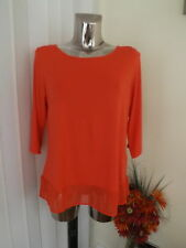 George Red 3/4 Sleeve T Shirt Top Size 16 Ladies Looser Fit