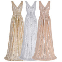 Elegant Sequins Formal Evening Cocktail Bridesmaid Pageant Party Prom Dress