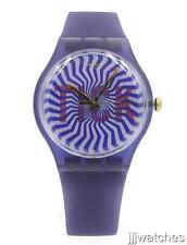 New Swatch Originals TI-OCK Navy Blue Silicone Lenticular Watch 41mm SUON119 $75