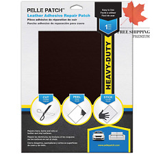 - Leather & Vinyl Adhesive Repair Patch - 25 Colors Available - Heavy-Duty 11...