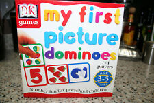 Dk Games My First Picture Dominoes Game Matching Numbers Counting Ages 3-5