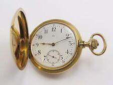 Reloj de bolsillo Antiguo Omega 18K Solid Gold Hunter caso