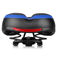 Dual Spring Bike Seat Memory Foam Padded Bicycle Saddle with Reflective Sticker