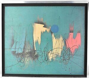 Roberto Crippa (1921-1972) vintage mid Century lithograph Spazialismo Fontana