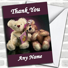 Purple Teddy Bears Personalized Thank You Card