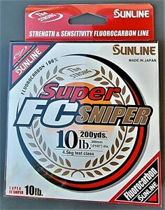 Sunline Fluorocarbon FC Sniper Fishing Line Pick Any Pound Test Size Spool