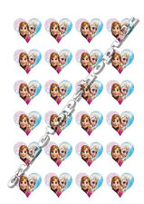 24 Heart shaped Frozen cake toppers Printed on premium rice paper