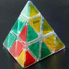 Z-cube transparent Pyraminx Cube polished face transparent pyraminx magic cube