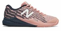 New Balance Women's 996v3 Tennis Shoes Pink with Navy