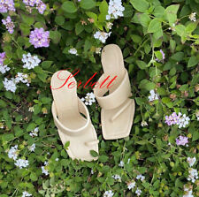 ZARA NEW LEATHER HIGH-HEEL SANDALS WITH PADDED STRAPS VANILLA 35-42 2332/510