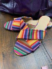 J.Crew Flat Multicolor Sandals Size 10