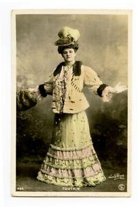 c 1906 Glamour Glamor TOUTAIN French Theater Theatre Fashion photo postcard