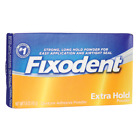 Fixodent Denture Adhesive Extra Hold Powder 1.6 oz Pwdr