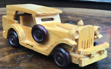 Vintage Handmade Model Wooden Car