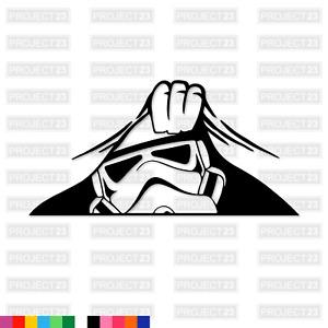 PEAKING STORM TROOPER Star Wars JDM Dub Vag Window/Car/Van Decal Sticker 033